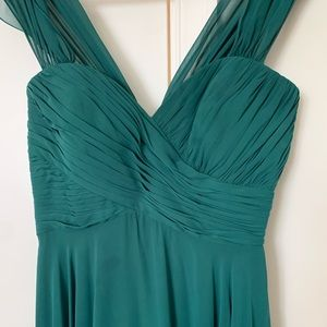 Dessy Collection Green Formal Dress